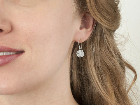 Adel Chefridi Studio | Diamond + Sterling Silver Nostalgia Charm Earrings | Firecracker