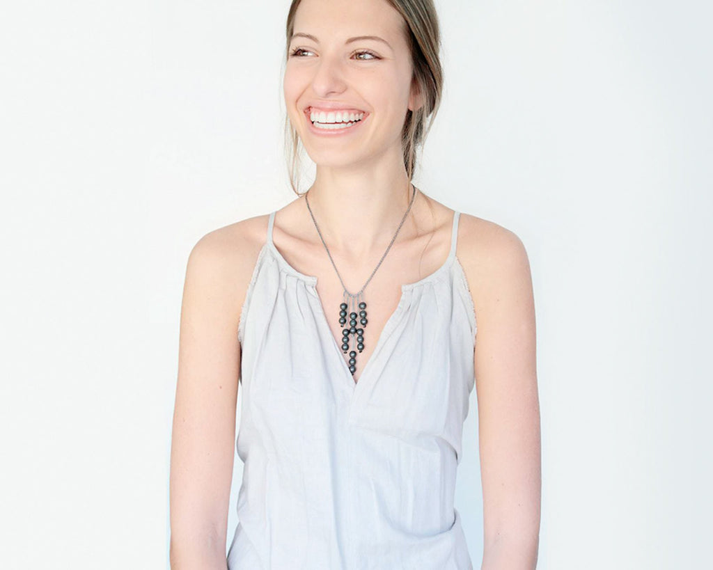 Ann Lightfoot | Demi Fringe Hematite Necklace | Firecracker