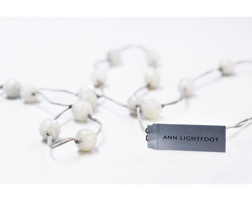 Ann Lightfoot Jewelry | White Moonstone + Pearl Cord Necklace | Firecracker
