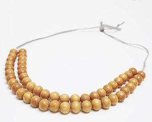 Ann Lightfoot | Double Strand Yellow Wood Necklace | Firecracker