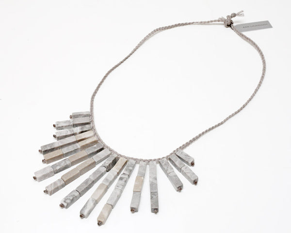 Ann Lightfoot | Feldspar Fringe Necklace | Firecracker