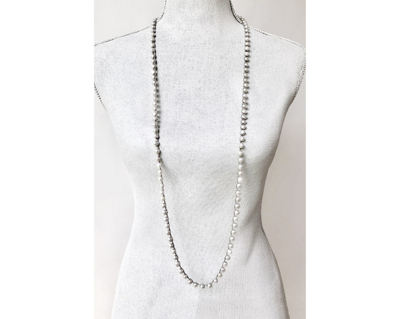 Ann Lightfoot Jewelry | Freshwater Pearl Braided Necklace | Firecracker