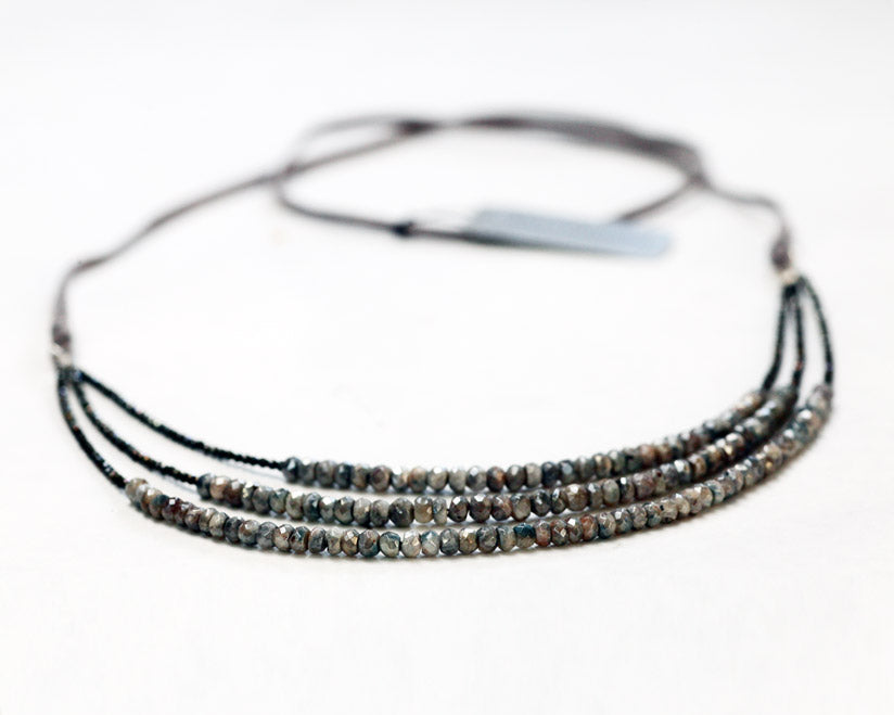 Ann Lightfoot | Labradorite + Pyrite Strand Necklace | Firecracker