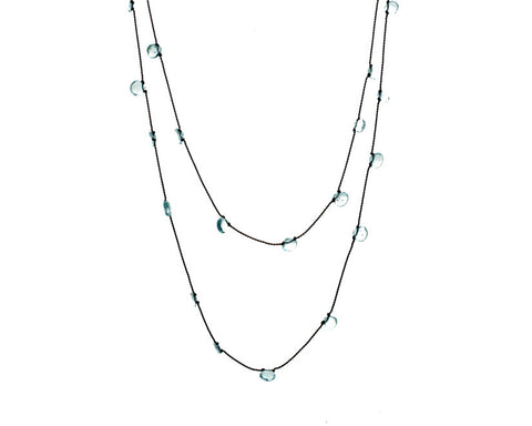 Margaret Solow Jewelry | Aquamarine Gemstone Strand | Firecracker