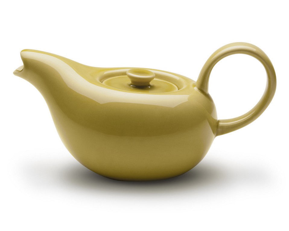"Bauer Pottery | Russel Wright ""American Modern"" Teapot (Chartreuse)"