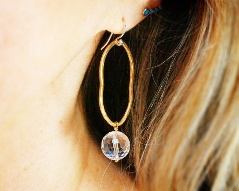 """Crystal Ball"" Statement Earrings 