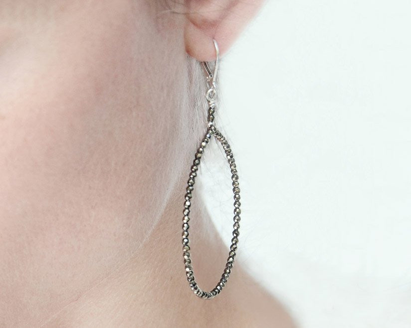 Ann Lightfoot | Pyrite Hoop Earrings | Firecracker