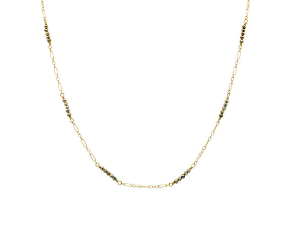 Dana Kellin Jewelry | Silver + Pyrite Layering Necklace | Firecracker