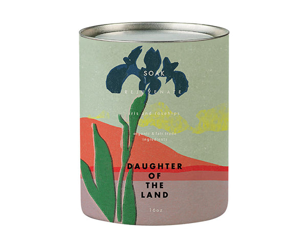 Daughter of the Land | Iris + Rosehips Organic Bath Soak | Firecracker