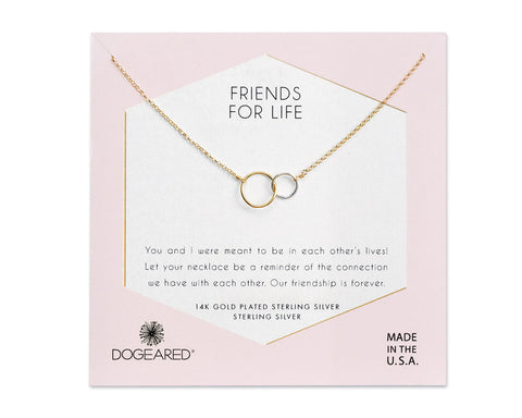 "Dogeared Jewelry | ""Friends For Life"" Necklace 