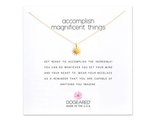 "Dogeared Jewelry | ""Accomplish Magnificent Things"" Necklace 