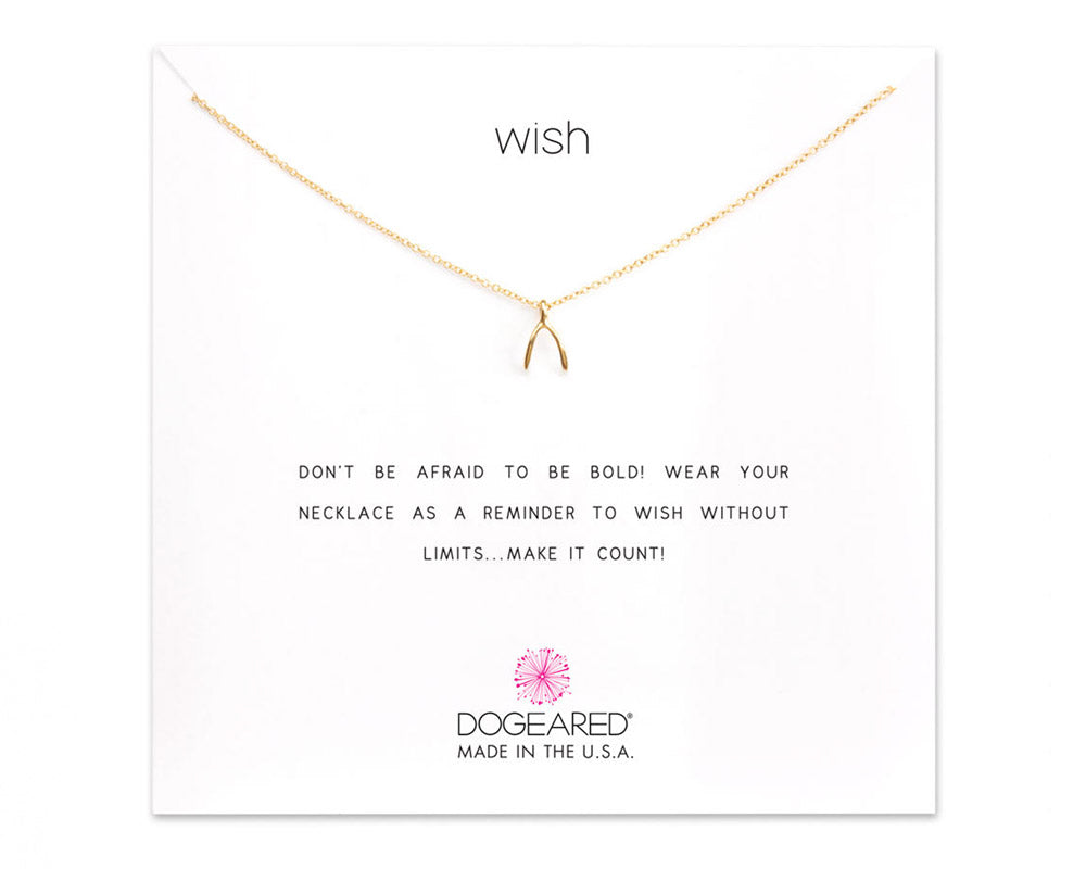 "Dogeared Jewelry | ""Wish"" Wishbone Charm Necklace 