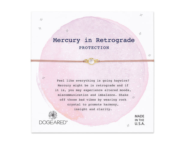 "Dogeared Jewelry | ""Mercury In Retrograde"" Protection Bracelet 