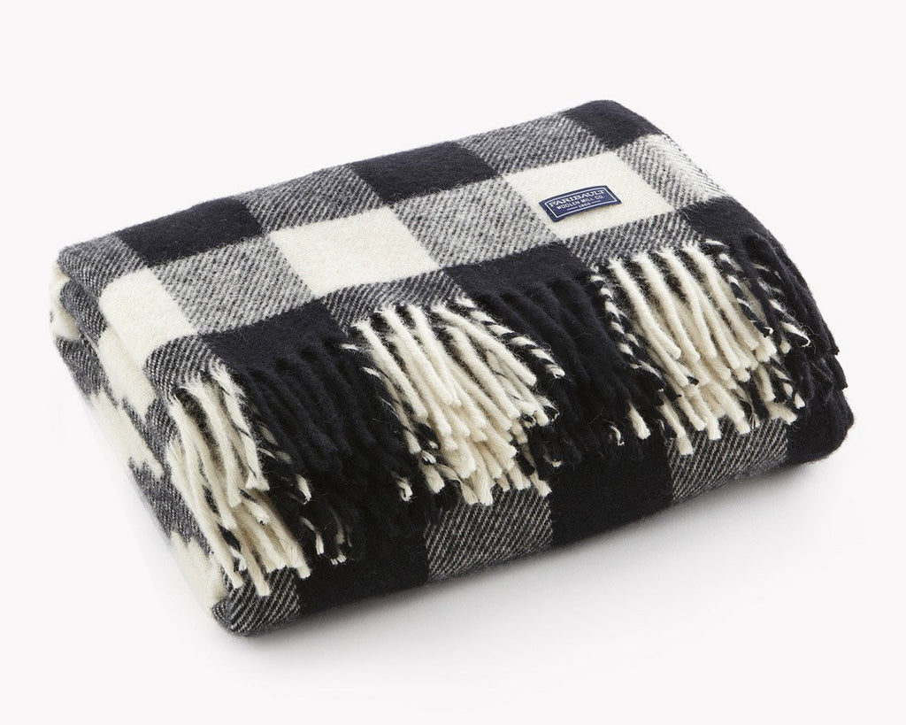 Faribault Woolen Mill | Buffalo Check Wool Throw | Firecracker