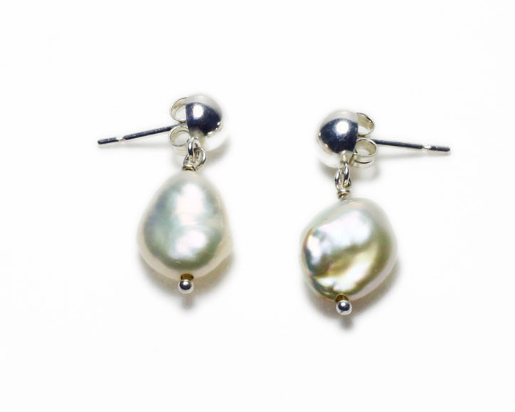 Freshwater Pearl Drop Post Earrings | Firecracker