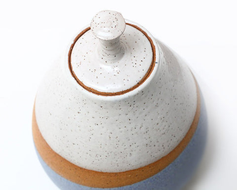 "Natan Moss Ceramics | ""Good Vibrations"" Lidded Jar 