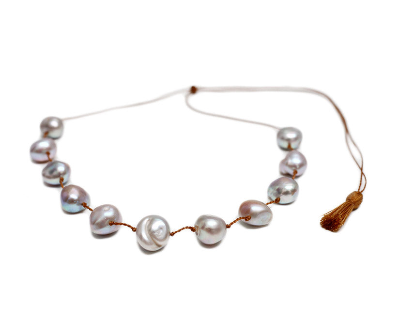 Lena Skadegard Jewels | Grey Baroque Pearl Necklace | Firecracker