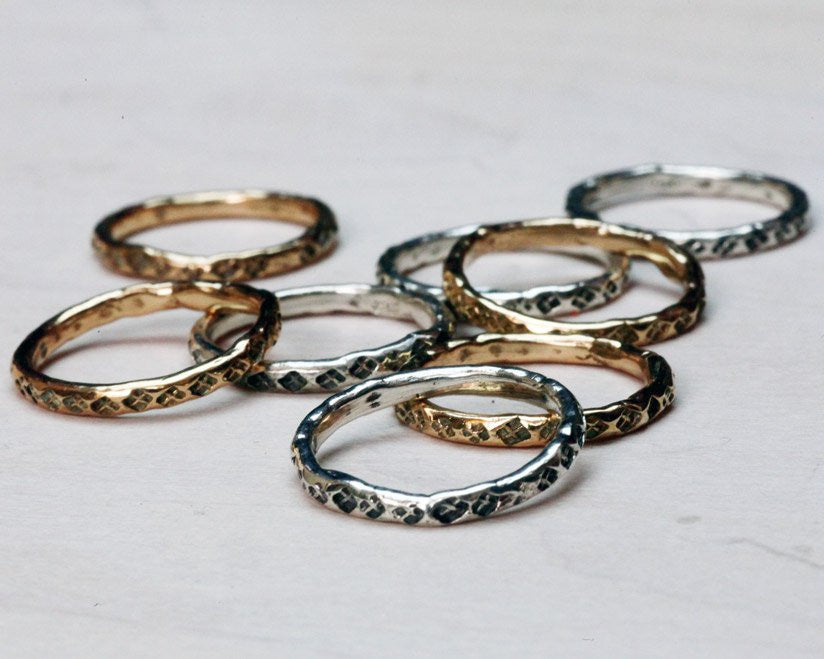 """Wisdom"" Stacking Rings"