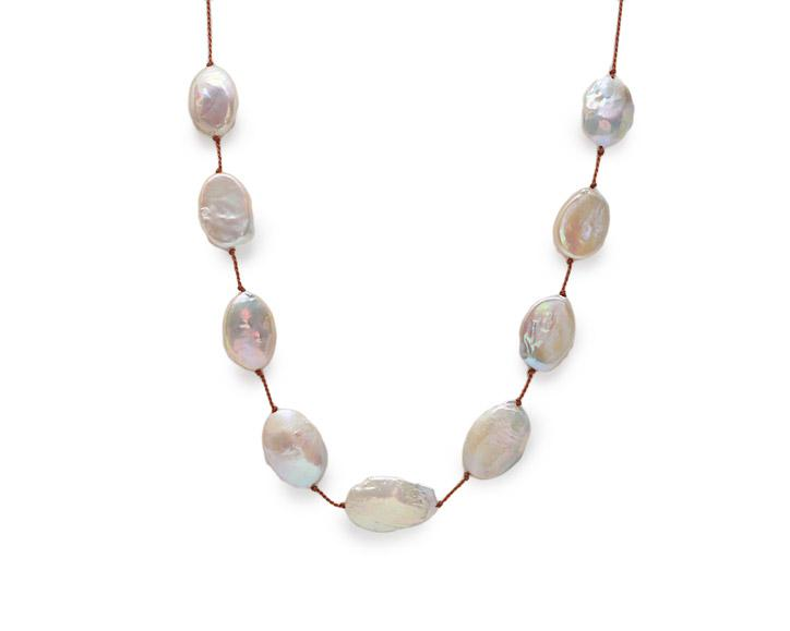 Lena Skadegard Jewels | Creamy Oval Baroque Pearl Necklace | Firecracker