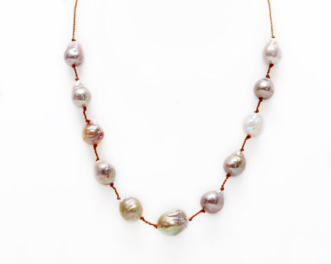 Lena Skadegard Jewels | Mauve Baroque Pearl Necklace | Firecracker