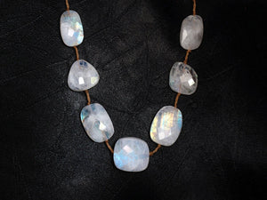 Lena Skadegard Jewels | Floating Faceted Moonstone Gemstone Necklace | Firecracker