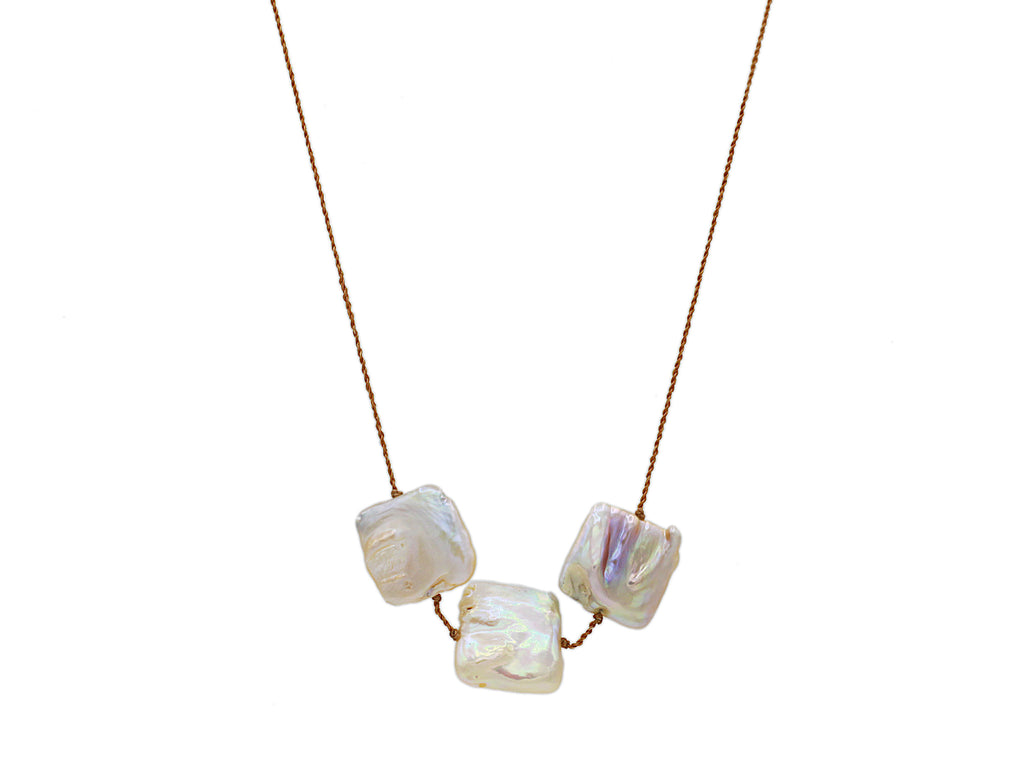 Lena Skadegard Jewels | Floating Baroque Pearl Necklace | Firecracker