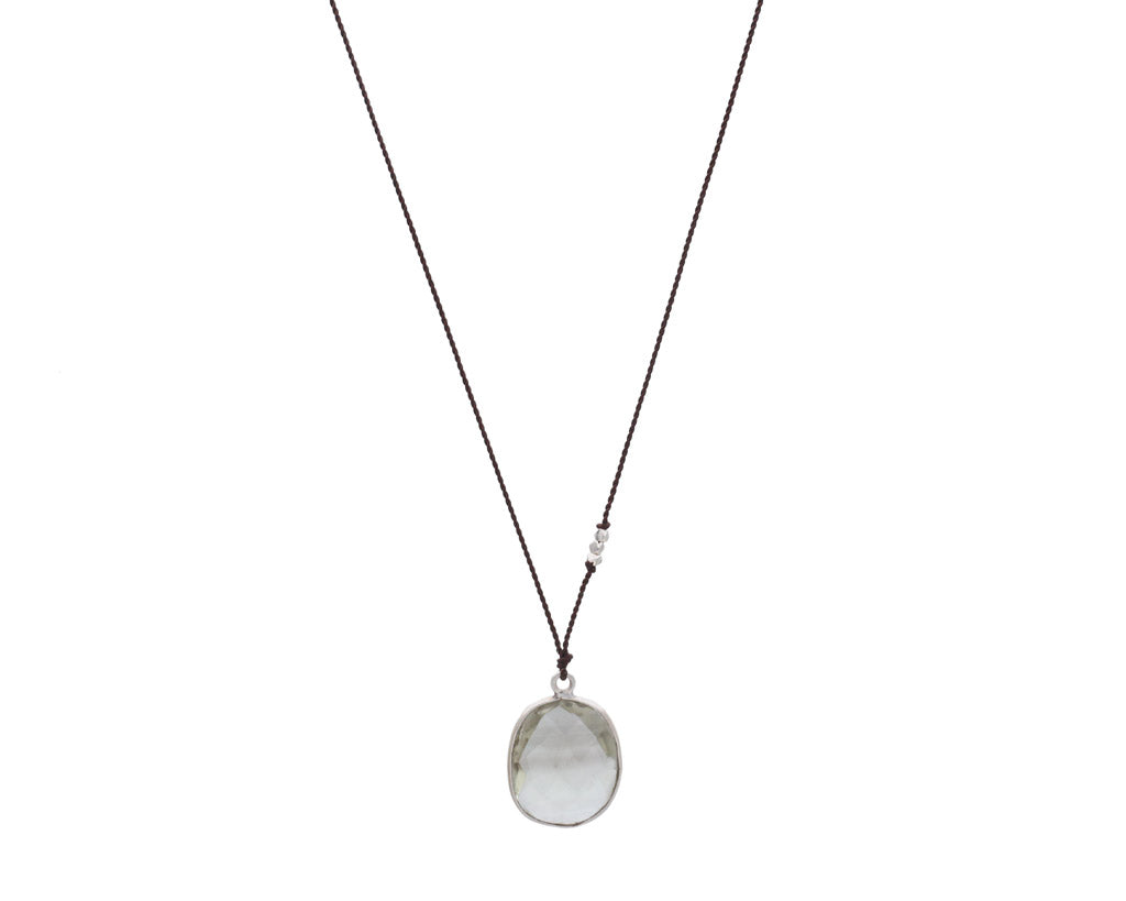 Smokey Margaret Solow Jewelry | Quartz + Sterling Silver Drop Necklace | Firecracker