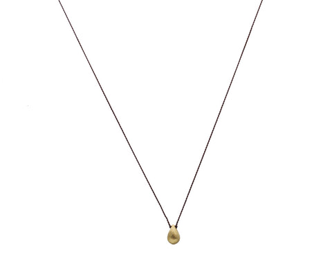Margaret Solow Jewelry | Textured 18k Gold Oval Necklace | Firecracker