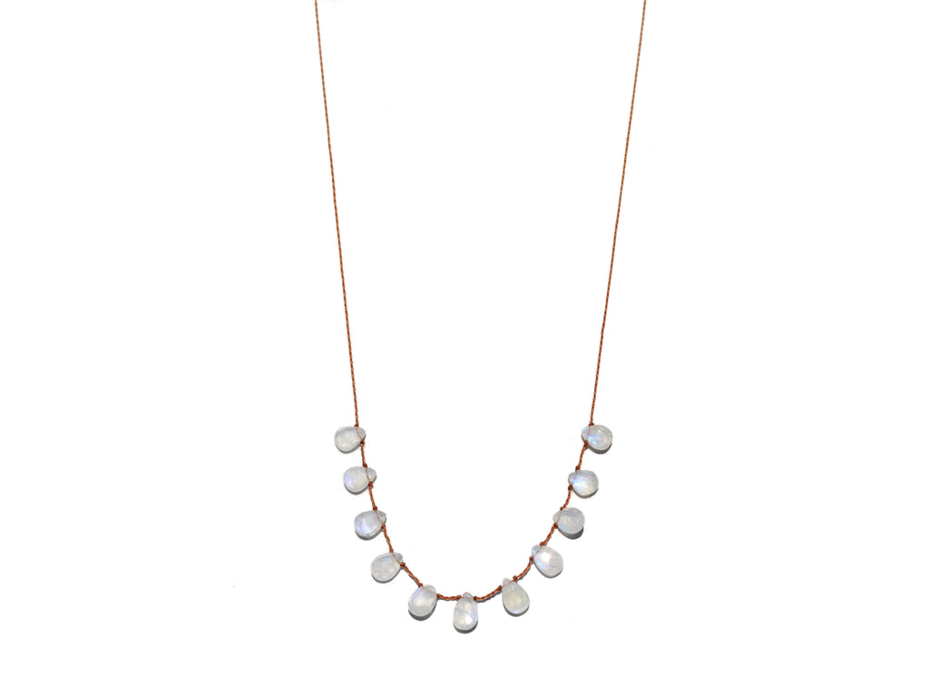 Lena Skadegard Jewels | Floating Moonstone Gemstone Necklace | Firecracker
