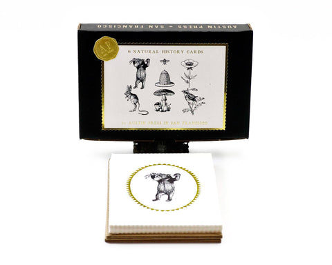 "Austin Press | ""Natural History"" Letterpress Card Set 