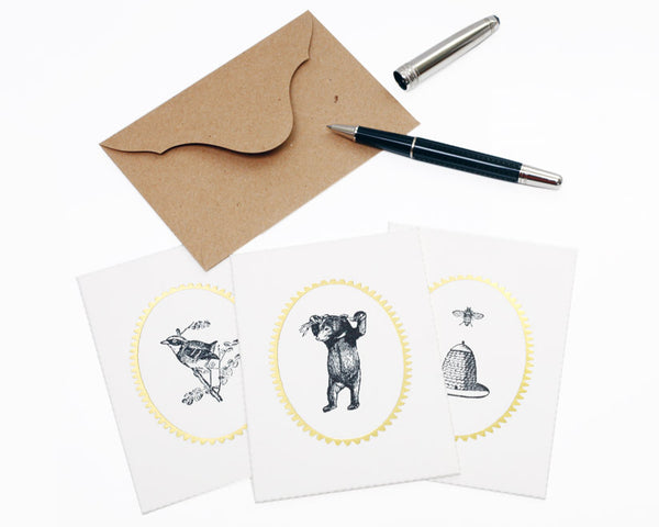 "Atelier Austin Press | ""Natural History"" Letterpress Card Set 