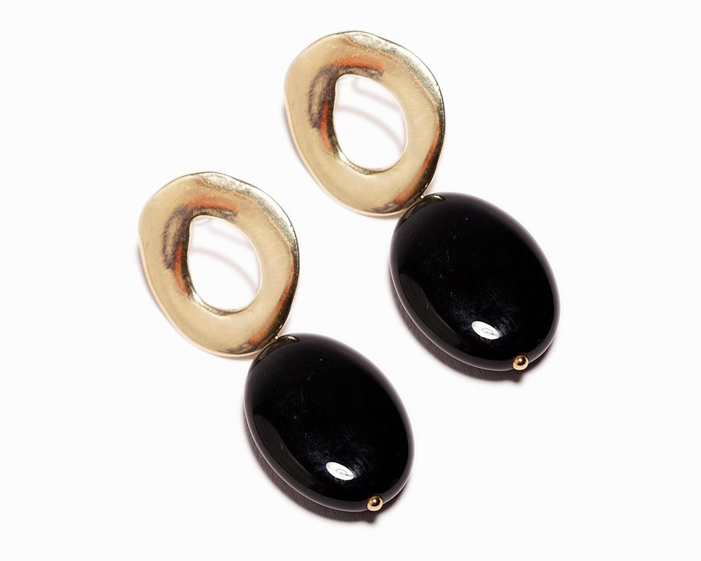 Odette New York | Black Onyx Coco Earrings | Firecracker