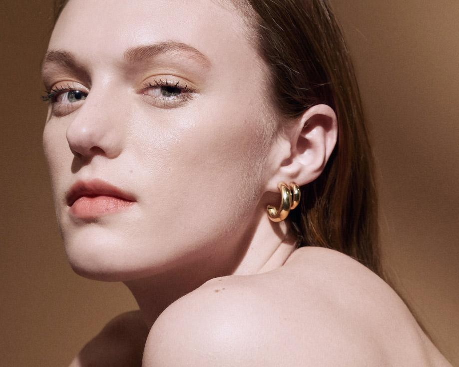 "Odette New York | ""Bulle"" Hoop Earrings 