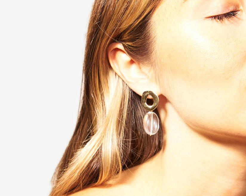 Odette New York | Crystal Quartz Coco Earrings | Firecracker