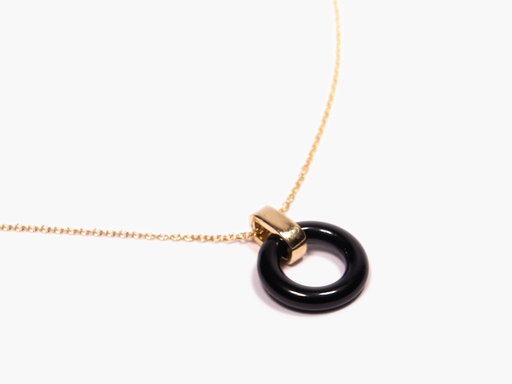 Odette New York | Black Onyx Beau Necklace | Firecracker