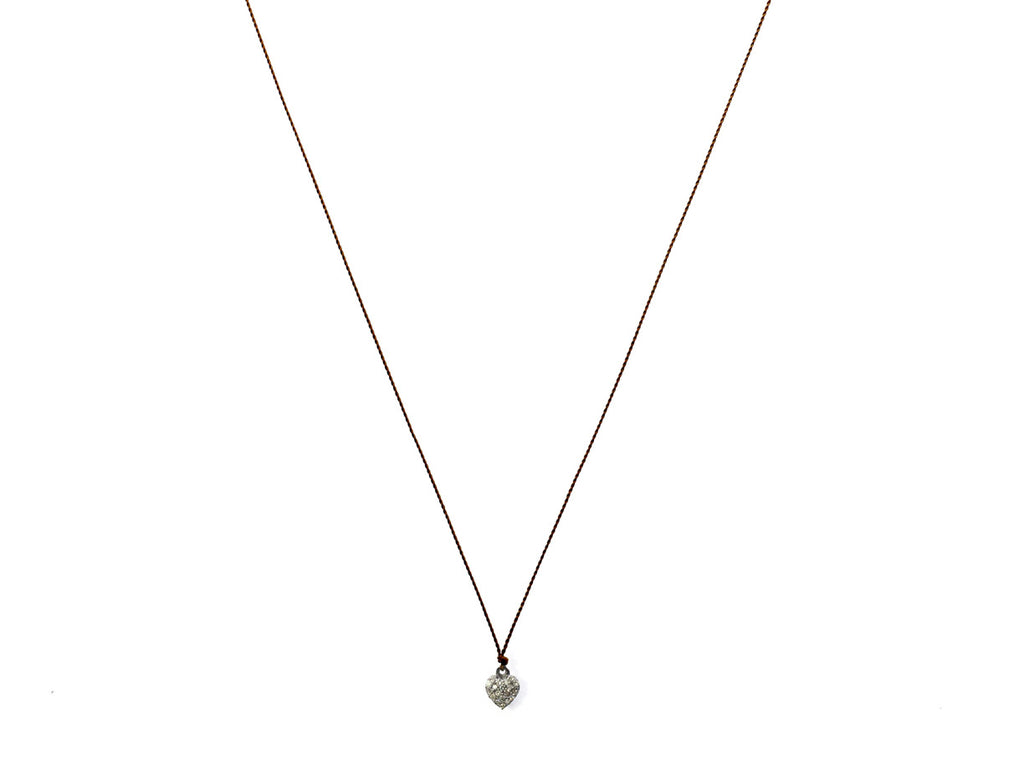 "Margaret Solow Jewelry | Pave Diamond ""Heart"" Pendent Necklace 