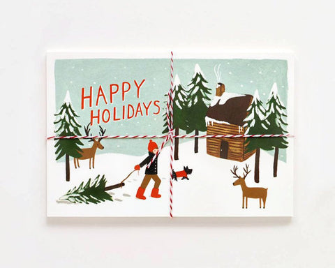 "Rifle Paper Co. | ""Happy Holidays"" Postcards (Set of 10) 
