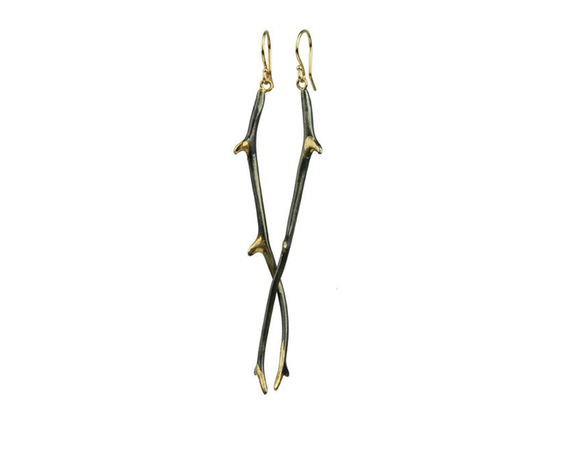 Sarah McGuire Studio | 18k Gilded Antler Earrings | Firecracker