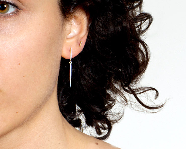 Sarah McGuire Studio | Sterling Silver Icicle Post Earrings | Firecracker