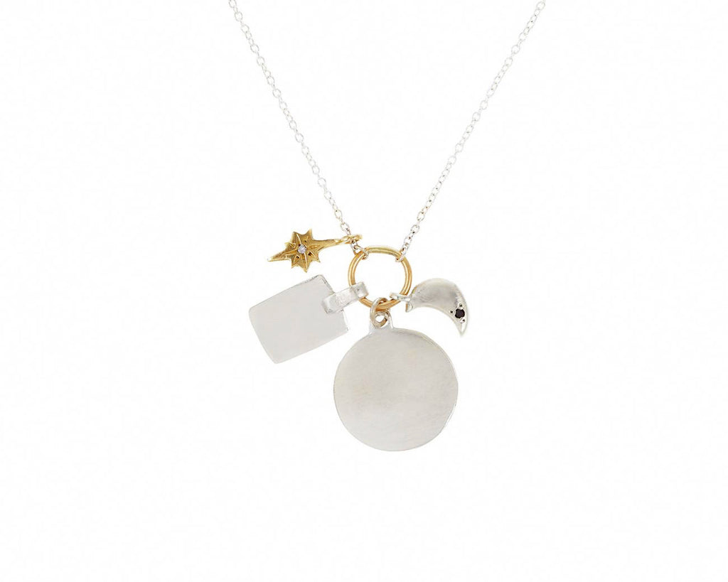 Scosha | Classic Sterling Silver Charms Necklace w/ Gold | Firecracker