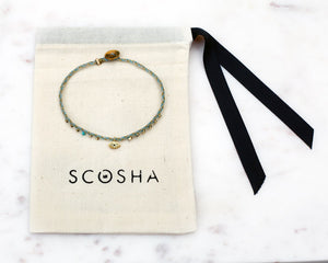 Scosha | Signature Slider Bracelet (Hot Pink + Brass) | Firecracker