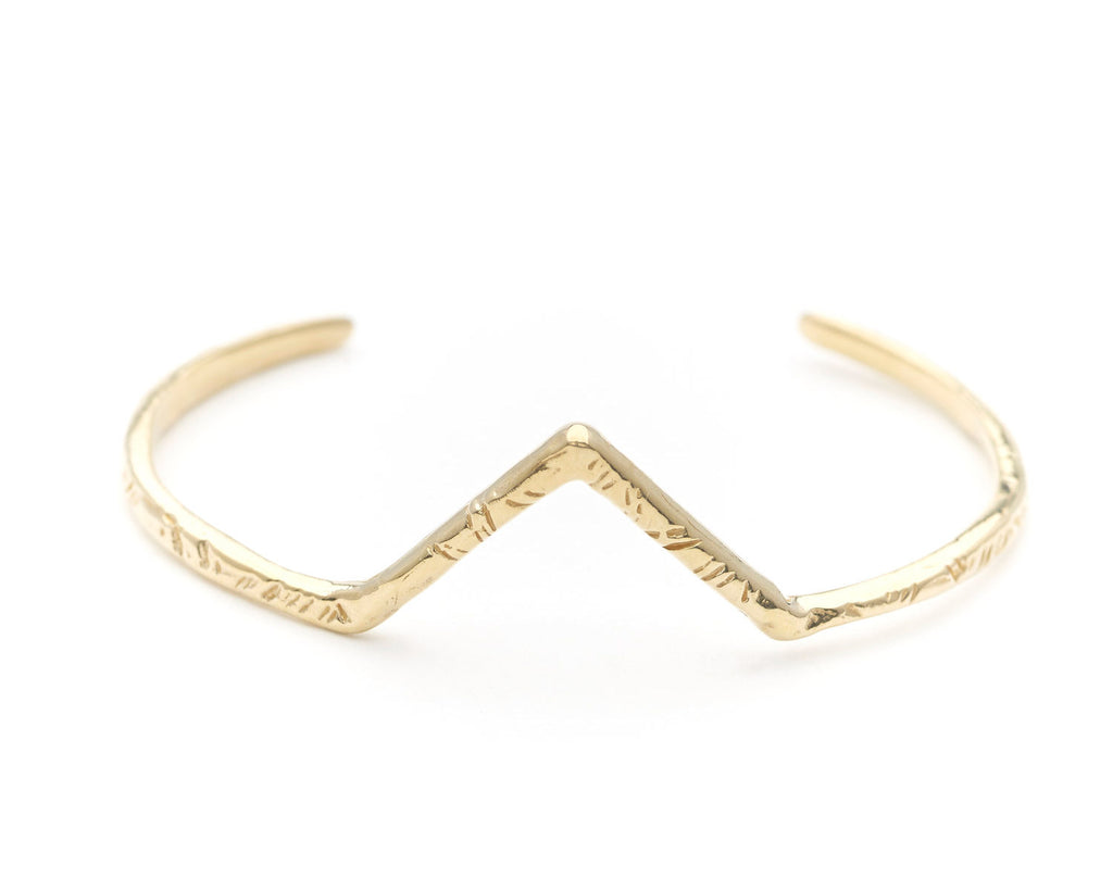 Odette New York | Summit Cuff in Brass | Firecracker