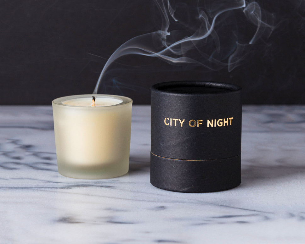 "Tatine Candles | ""City of Night"" Votive Candle 