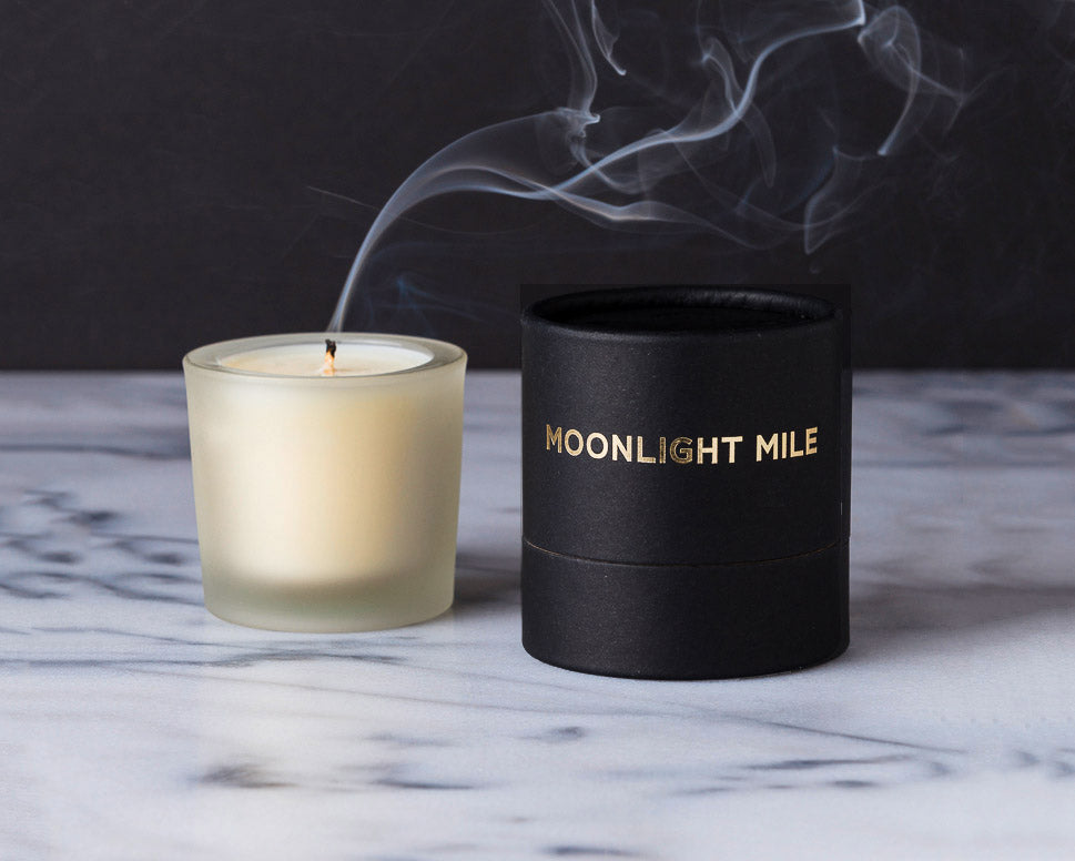 "Tatine Candles | ""Moonlight Mile"" Votive Candle 