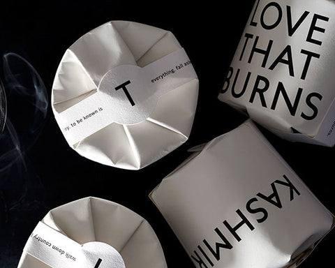 "Tatine Candles | ""Love that Burns"" Votive Candle 