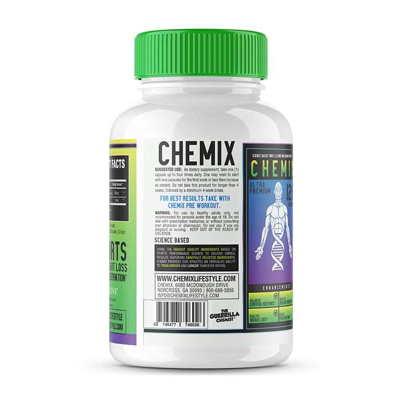 CHEMIX CORTIBLOC-(SCIENCE BASED CORTISOL BLOCKER FORMULATED BY THE GUERRILLA CHEMIST)
