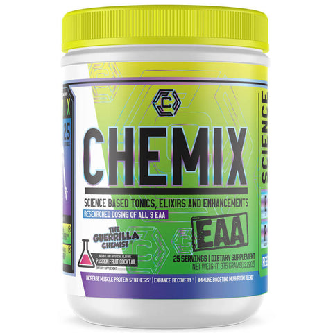 CHEMIX- ESSENTIAL AMINO ACIDS + PRE-WORKOUT + KING OF PUMPS (STACK)