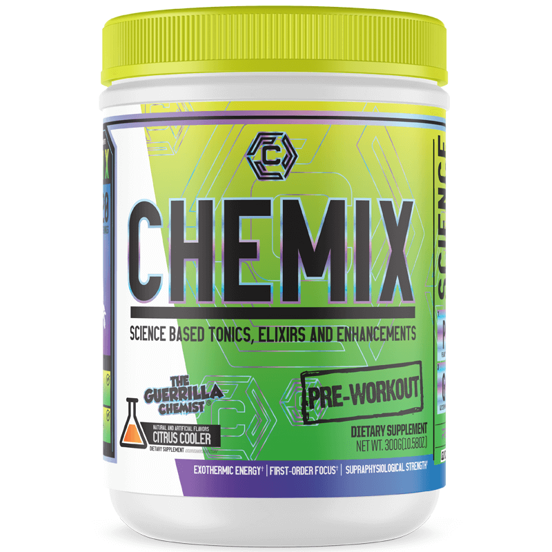 CHEMIX PRE WORKOUT (40 SERVINGS) + CHEMIX INTRA WORKOUT W/ FREE T-SHIRT (STACK)