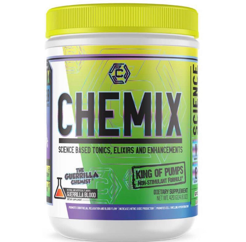 CHEMIX PRE WORKOUT + KING OF PUMPS (STACK W/ FREE SHAKER, TANK TOP, AND E BOOK)