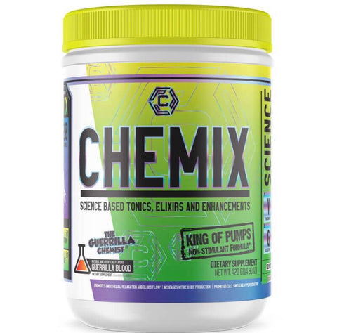CHEMIX PRE WORKOUT (40 SERVINGS) + KING OF PUMPS (STACK W/ FREE SHAKER AND TANK TOP)